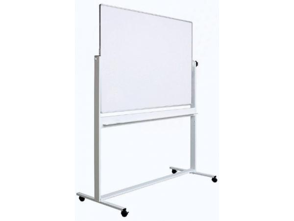 whiteboard dubla fata rotativ 90 x 120 cm pe stand mobil profil aluminiu optima whiteboard. Black Bedroom Furniture Sets. Home Design Ideas