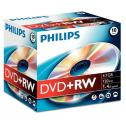 DVD+RW 4.7GB Jewelcase, 4x, PHILIPS, 10 BUC/SET