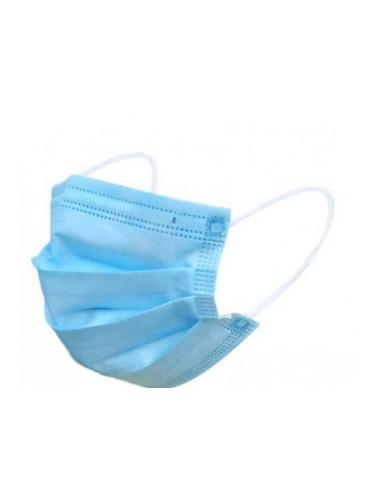 Masca de protectie in 3 straturi / 3 pliuri cu elastic 25 buc/set
