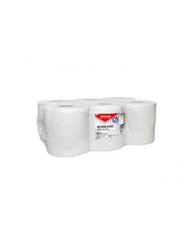 Prosop rola hartie reciclata alba Maxi, 120m - 2 straturi, 6 buc/bax, Office Products